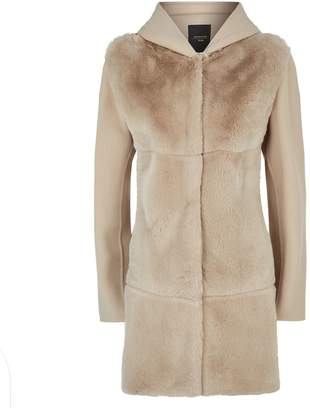 Max Mara Rabbit Fur Hooded Jacket