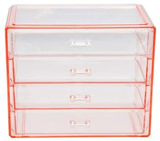 Sorbus Pink Makeup & Jewelry Storage Case Display