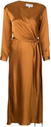 Mason by Michelle Mason asymmetric side tie dress