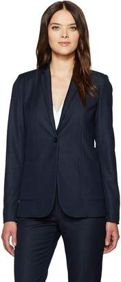 T Tahari Women's Riesling One Button Crepe Blazer