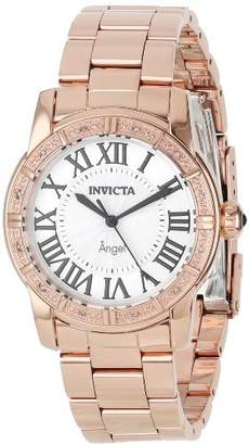 Invicta Women's 14375 Angel Dial Diamond-Accented 18k Rose Gold Ion-Plated Stainless Steel Watch
