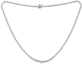 Diana M Fine Jewelry 18K 8.21 Ct. Tw. Diamond Tennis Necklace