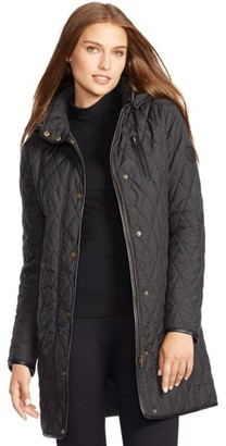 Women's Lauren Ralph Lauren Hooded Quilted Coat $230 thestylecure.com