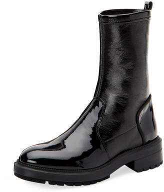 Aquatalia Leoda Weatherproof Patent Ankle Boots