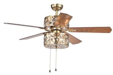Bed Bath & Beyond Thisvro 52-Inch 4-Light Ceiling Fan in Silver