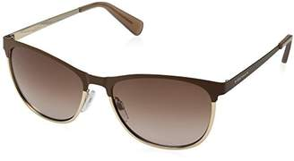 Cole Haan Women's Ch7018 Metal Oval Sunglasses