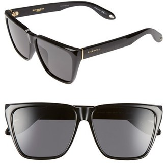 Women's Givenchy 58Mm Flat Top Sunglasses - Black/ Grey $295 thestylecure.com