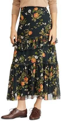 Ralph Lauren Floral Print Maxi Skirt