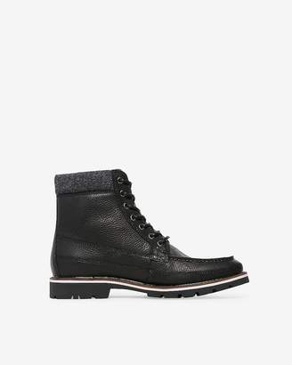 Express Wool Cuff Lace-Up Boots