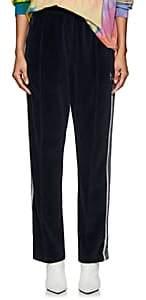 Needles Women's Striped Cotton-Blend Velour Track Pants - Navy