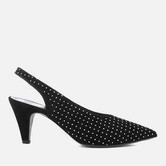 Rebecca Minkoff Women's Simona Studs Suede Sling Back Court Shoes
