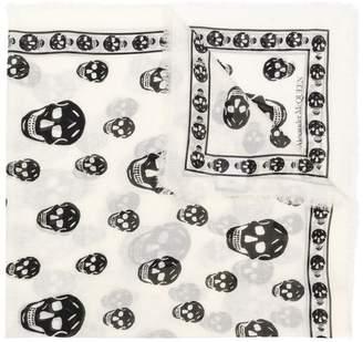 Alexander McQueen Skull square scarf