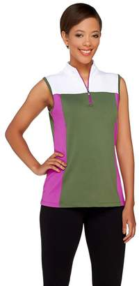 Denim & Co. Active/Golf Color-Block Sleeveless Top