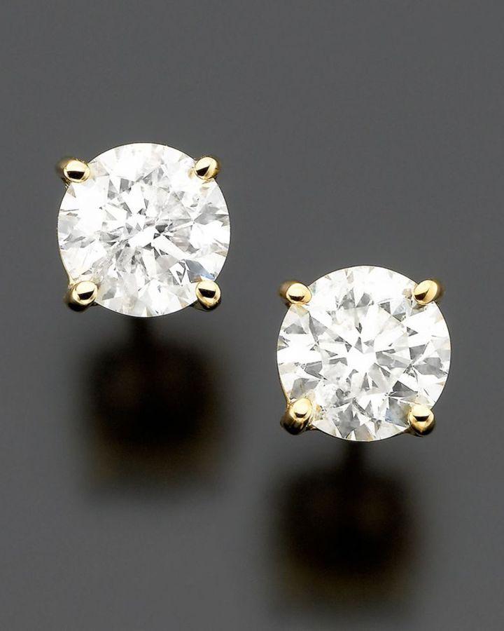 14k Gold Diamond Stud Earrings (3/4 ct. t.w.)