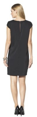 Mossimo Women's Short Sleeve Sequin Dress - Black