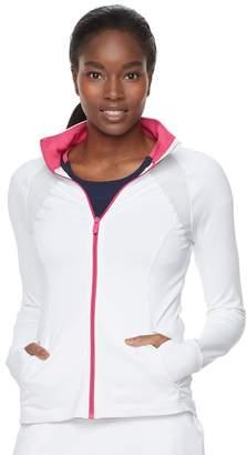 Fila Sport Women's SPORT Contrast Zipper Thumb Hole Jacket