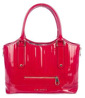 Ted Baker Quilted Patent Tote