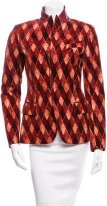 Jean Paul Gaultier Printed Velvet Blazer $245 thestylecure.com