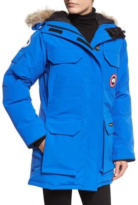 Canada Goose PBI Expedition Hooded Parka, Royal Blue $1,045 thestylecure.com