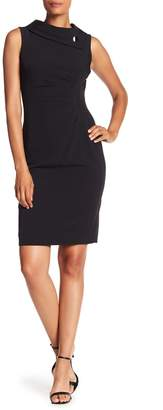 Tahari Fold-Over Envelope Sheath Dress