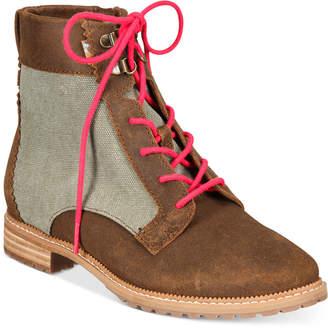 Toms Women Nolita Lace-Up Booties Women Shoes