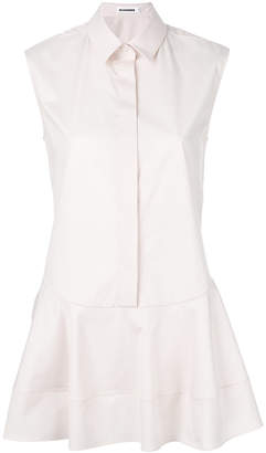 Jil Sander flared sleeveless shirt
