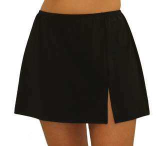 Fit 4 U Fit 4 Ur Hips Solid Skirt with Slit - Plus
