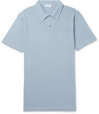 Sunspel Riviera Slim Fit Cotton-Mesh Polo Shirt