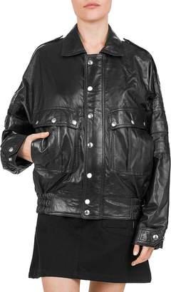 The Kooples Leather Batwing Sleeve Jacket