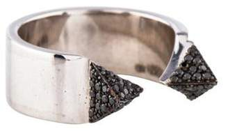 Ileana Makri 18K Black Diamond Pyramid Ring
