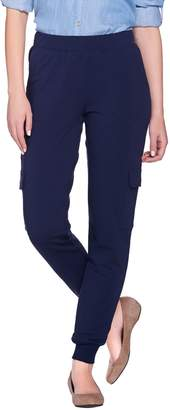 Denim & Co. Active French Terry Cargo Pants with Rib Cuffs