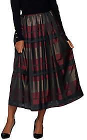 Glamorous Joan Rivers Classics Collection Joan Rivers Petite Plaid Midi Skirt