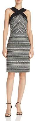 Laundry by Shelli Segal Cross-Front Jacquard Dress