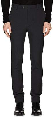 John Varvatos Men's Crinkled Stretch-Wool Trousers