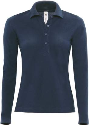 BC B&C Womens/Ladies Safran Long Sleeve Polo Shirt