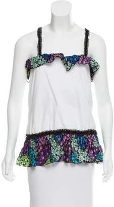 Anna Sui Ruffled Sleeveless Top