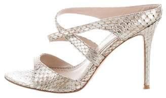 Jean-Michel Cazabat Snakeskin Slide Sandals