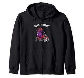 Hell Raisin - Bad Biker Thug Funny Zip Hoodie