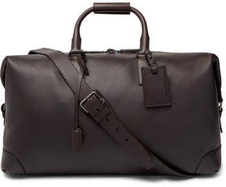 Brioni Leather Holdall - Dark brown