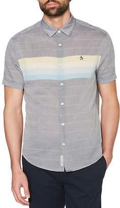 Original Penguin Short-Sleeved Engineered Stripe Sport Shirt