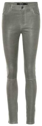 J Brand Maria leather skinny jeans