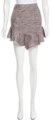 Vionnet Flared Mini Skirt