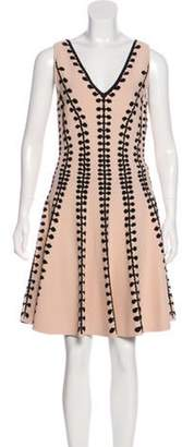 Alexander McQueen Sleeveless Embroidered Midi Dress w/ Tags Pink Sleeveless Embroidered Midi Dress w/ Tags
