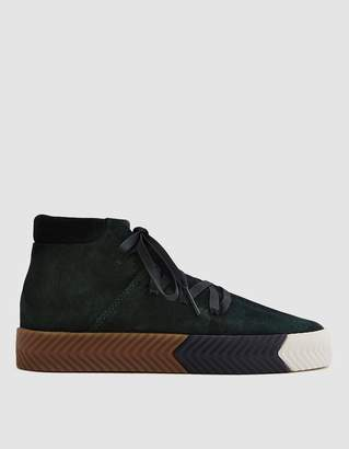 Alexander Wang Adidas X AW Skate Mid in Green Night