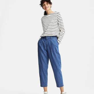 Uniqlo Women's Cotton Tapered Indigo Ankle-length Pants