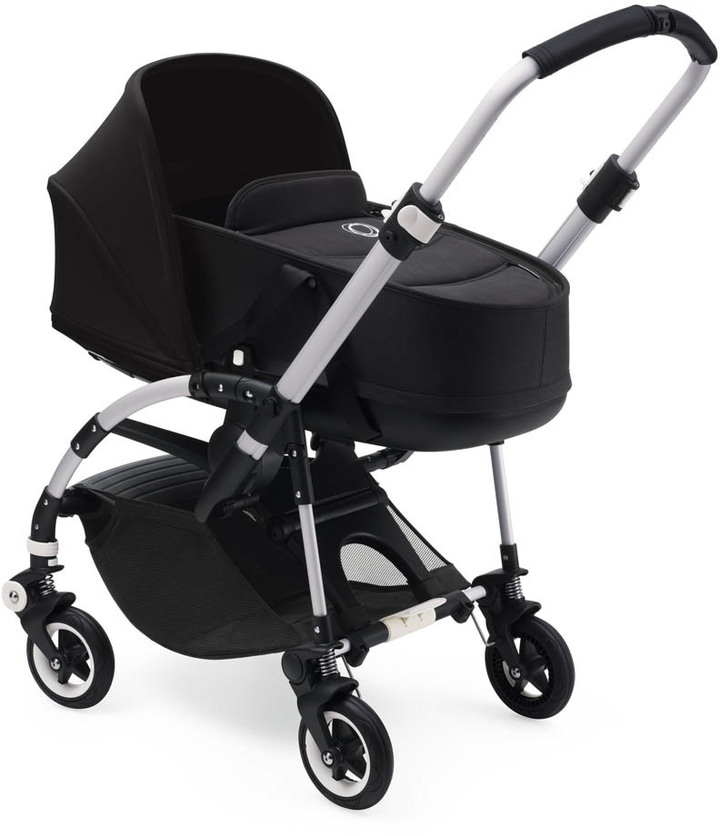 BugabooBUGABOO BEE5 Convertible Pushchair with Aluminium France, Black Seat and Bassinet