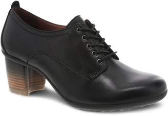Dansko Leather Lace-Up Heel Oxfords - Pennie