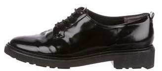Robert Clergerie Glazed Leather Derby Shoes