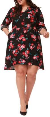 Dex Plus Floral High-Low Dress