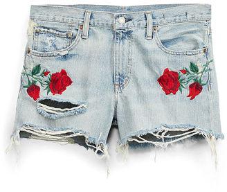 Ralph Lauren Denim & Supply Rose-Embroidered Denim Short $145 thestylecure.com